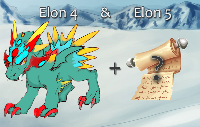 Image of dragon elon with a survey icon to the right