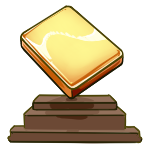 Golden mahjong trophy