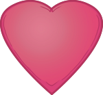 Large pink heart.
