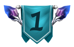 Level up banner with a 1 on it