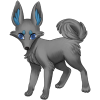 Greyscale image of the Zorvic with it's default parts.