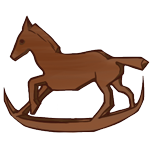 Little rocking horse item