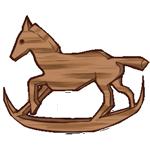 Oak Wood Rocking Horse