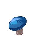 Dark Blue Mushroom