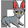 A Silver Werewolf Zorvic Plush Sophie's favorite toy