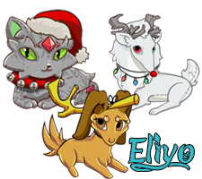 Three special Christmas plushies for each species.